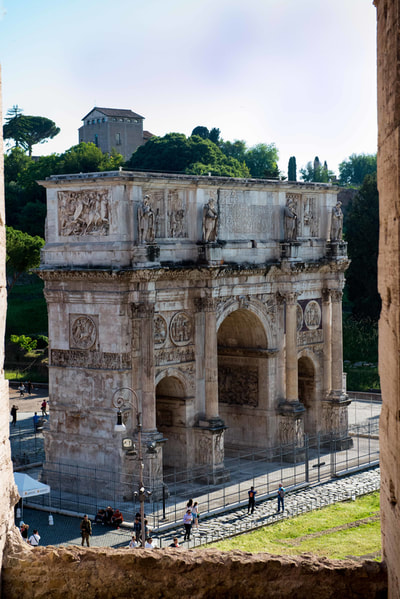 The Arch of Constantine is impressive. It is large. It is unavoidable, which I think is the real purpose.