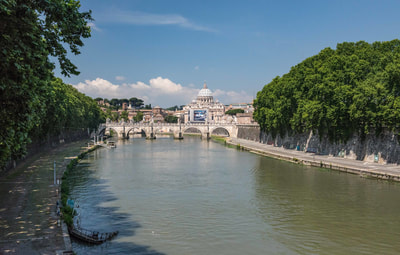 The Tiber flows past some interesting and historic locations, but its ultimate goal is the Tyrrhenian Sea at Fiumicino.